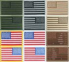 """US Flag Patch 2"""" x 3"""" Sew / Iron On Embroidered Patriotic USA American Patch"""
