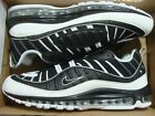Men's Nike Air Max 98 Black White Reflect Silver 640744 010 Size 13, 14