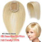 Unprocessed Real Remy Human Hair Wig Topper Top Pieces For Woman Mix Blonde US