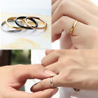 1pc Anti-allergic Titanium Steel Alloy Smooth Couples  Wedding Rings