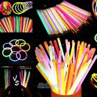300 8'Glow Sticks Bracelets Necklaces Neon Colors & 300 Bracelets Connectors USA