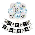 5 Colours Happy Birthday Panda Latex Confetti Filled Party Balloons Buntings Set