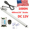 "Electric Linear Actuator 1000N/220lbs Lift Heavy Duty 400mm 16"" Stroke 12V Motor"