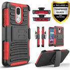 For Coolpad Legacy Phone Case, Belt Clip Cover+Tempered Glass Screen Protector