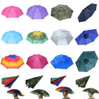 DIY Foldable Sun Umbrella Hat Golf Fishing Camping Headwear Cap Head Hat Outdoor