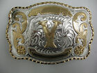 Initial Letters Western Style Rodeo Cowboy Gold Large Belt Buckles