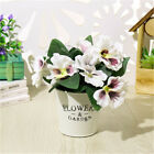 Party Home Room  Pansy Flower Plant Bunch Floral Decor Artificial Silk Bouquet
