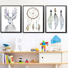 Kf_ Hk- Modern Dream Catcher Elk Canvas Wall Painting Poster Home Decor Unfram