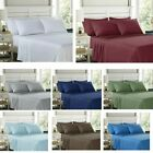 100% Egyptian Comfort 1800 Count 4 6 Piece Bed Sheet Set Deep Pocket Bed Sheets image