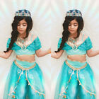 Aladdin Jasmine Princess Cosplay Baby Kid Girl Fancy Dress Up Party Costume Sets