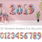 32'' Number Foil Balloons Rainbow Color Balloons Wedding Birthday Party Decor US