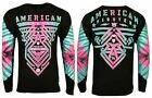 AMERICAN FIGHTER Mens T-Shirt PALMDALE L/S TEE Premium Athletic Gym 40 $40 image