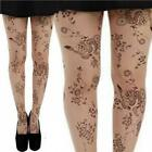 TATTOO TIGHTS FORAL ALTERNATIVE PUNK GOTH PAMELA MANN