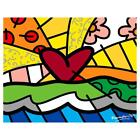 "Britto ""Forever"" Hand Signed Limited Edition Giclee on Canvas; COA"