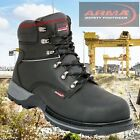 SAFETY BOOTS BLACK STEEL TOECAP HEAVY DUTY CENTURION BOOTS by ARMA A2