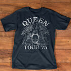 Queen Official Tour 75 Crest Logo T-Shirt image