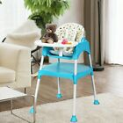 Baby High Chair 3 in 1 Convertible Feeding Blue Red Green