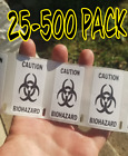 Biohazard 25-1000 Pack Stickers Gag Prank Sticker Decal Medical Label