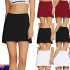 Women's Casual Pleated Tennis Golf Skirt with Underneath Shorts Running Skorts