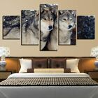 5pcs Wolves Modern Art Oil Painting Canvas Print Wall Home Decor Unframed