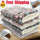 Warm Pet Mat Small Large Paw Print Cat Dog Puppy Soft Blanket Bed Pillow Cushion