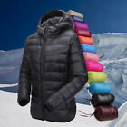 Winter Men Lady Packable Ultra Lightweight Down Jacket Outwear Puffer Warm Coat