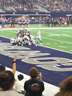 2 Dallas Cowboys vs Tampa Bay Buccaneers - 10 Rows From Field -Aisle Seats