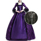 Elegant Women Medieval Renaissance Fancy Dress Up Cosplay Party Costume