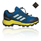 adidas Boys Terrex GORE-TEX Walking Shoes - Navy Blue Sports Outdoors Waterproof