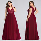 Ever-Pretty US Evening Ball Gowns Long Plus Burgundy Cocktail Party Dress 07344 $35.99 USD on eBay
