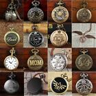 Antique Steampunk Pocket Watch Full Hunter Vintage Pendant Retro Classic Chain image
