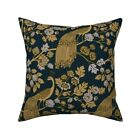 Peacock Exotic Bird Chinoiserie Throw Pillow Cover w Optional Insert by Roostery
