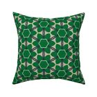Bold Retro Modern Geometric Throw Pillow Cover w Optional Insert by Roostery