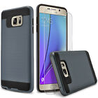 For Samsung Galaxy Note 5 Phone Case, Cover+Tempered Glass Screen Protector