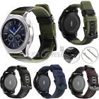 US Genuine Leather & Nylon Wrist Band Strap For Samsung Gear S3 Frontier Classic image