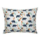Bears Home Decor Camping Woodland Bear Forest Pillow Sham by Roostery image