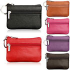 Women Small Leather Mini Wallet Card Coin Holder Purse Key Pouch Clutch Zipper image