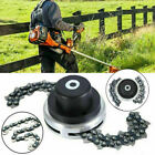 US 65Mn Trimmer Head Coil Chain Brush Cutter Trimmer Garden Grass For Lawn Mower