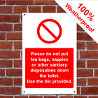 Toilet do not dispose of hotel safety sign HOT17 durable and weatherproof