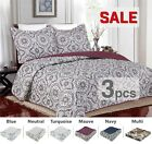 3PC, Regal Home Collections Floral Queen Size Quilt Set (One Quilt+Two Pillow) image