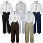 3pc Silver Tie Shirt Suit for Baby Boy Toddler Kid Pants Color by Selection