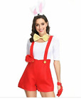 Women's Sexy Red Bunny Rompers Carnaval Halloween Costumes Plus Size Cosplay New