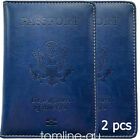 5 Colors Leather Passport Cover Protector ID Case Card Holder Travel Wallet US
