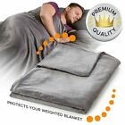 "Deluxe Weighted Blanket Duvet Removable Cover 60''x80'' 48''x72"" Anxiety Relief image"