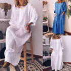 Womens Minimalist Long Maxi Shirt Dresses Long Sleeve Pockets Casual Clothes