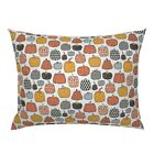 Pumpkin Halloween Pumpkins Kids Fall Autumn Orange Pillow Sham by Roostery image