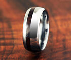 Tungsten Cocobolo Mens Wooden Ring Koa Wood Style Wedding Ring image