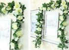 7 Feet Artificial Flower Silk Rose Leaf Garland Vine Ivy Wedding Garden Decor GE