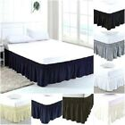 Elastic Bed Ruffles Wrap Around Bed Skirt 100% Cotton 800 TC Size Queen  image