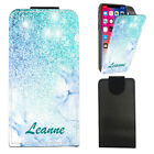 "Personalised NAME Marble PU Leather Flip Case Cover For Ulefone Paris Lite (5"")"